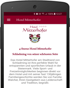 Hotel Mitterhofer App Screenshot